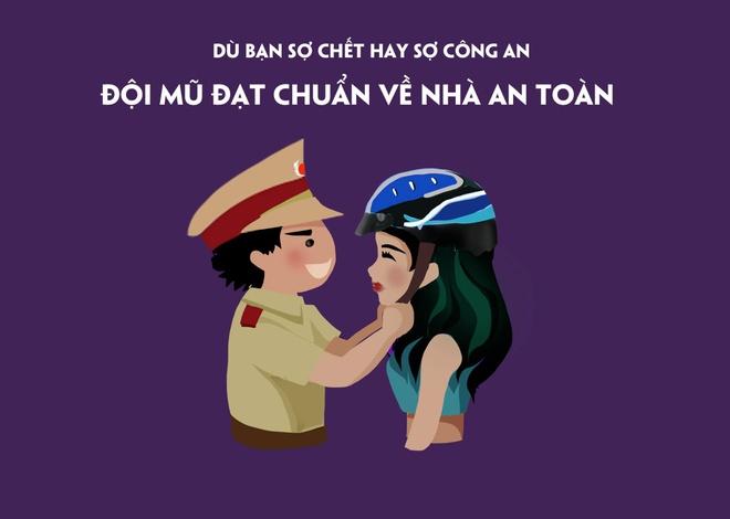 Tranh vui: Ban doi mu bao hiem vi suc khoe hay so cong an? hinh anh 7