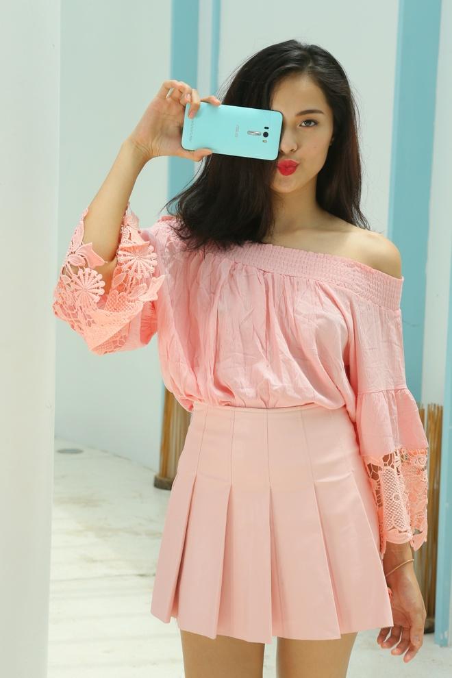 Bo anh tuoi tre cua nguoi mau Ha Vy voi ZenFone Selfie hinh anh 2 Chính vì vậy, dòng smartphone mới đến từ Đài Loan nhanh chóng lọt vào mắt xanh của các quý cô phong cách và thích công nghệ.