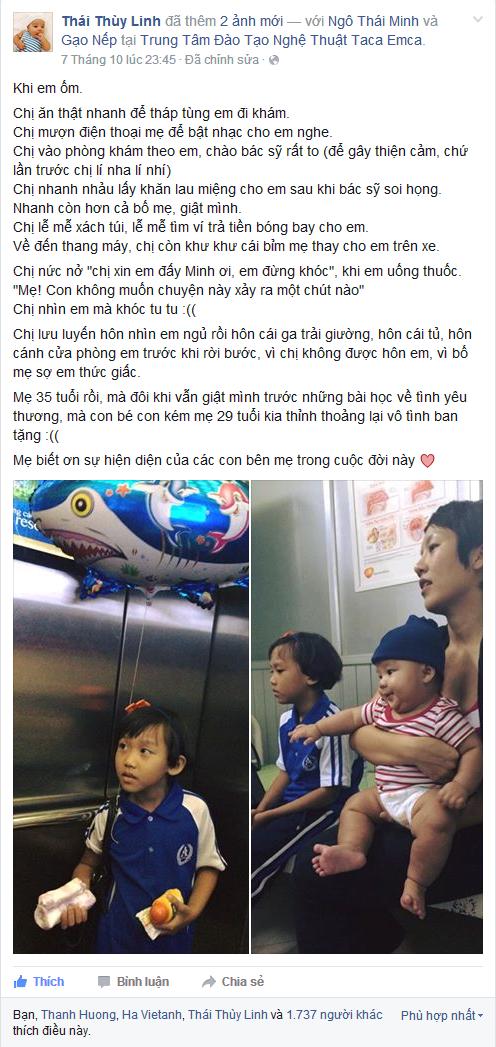 Ca si Thai Thuy Linh chia se niem tu hao ve con hinh anh 1
