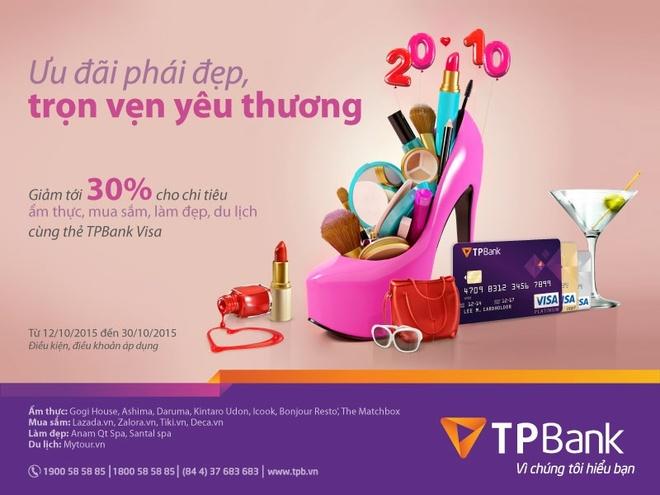TPBank uu dai 30% mung ngay Phu nu Viet Nam hinh anh