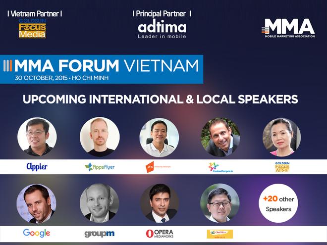 30 dien gia dau nganh quy tu tai dien dan tiep thi di dong hinh anh 1 MMA Forum Vietnam 2015 qui tụ hơn 30 diễn giả là chuyên gia đầu ngành