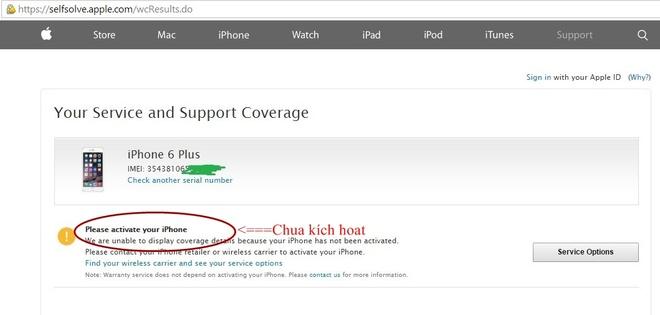 iPhone 6S bat ngo ha gia con hon 15 trieu dong hinh anh 2 Dòng trạng thái thông báo iPhone chính hãng chưa kích hoạt.