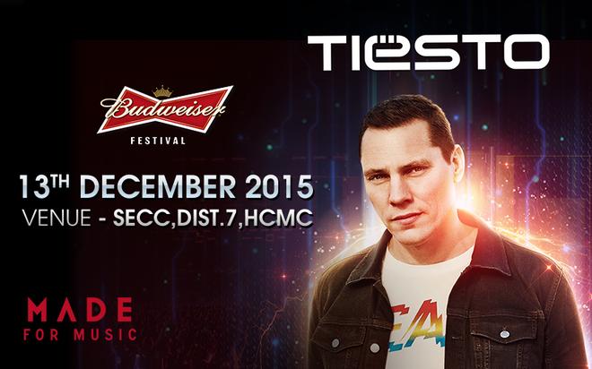 Huyền thoại Tiesto sẽ xuất hiện tại đêm chung kết BUDJs 2015