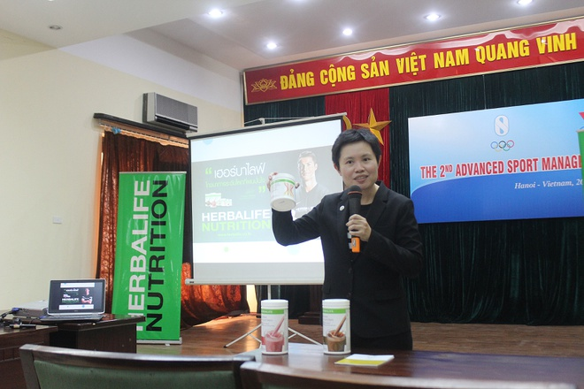 Herbalife cam ket dong hanh cung the thao Viet Nam hinh anh