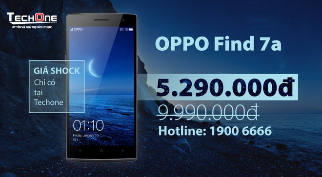 OPPO Find 7A giam gia 50% con 5 trieu dong hut khach hinh anh 5