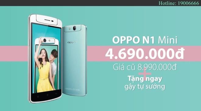 OPPO N1 Mini ha gia 50% con 4,6 trieu dong hut khach hinh anh 5