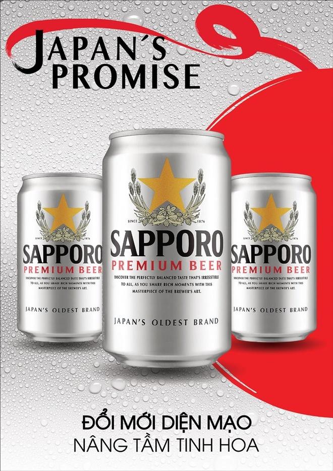 Sapporo doi moi dien mao va huong vi de thu hut nguoi dung hinh anh 1