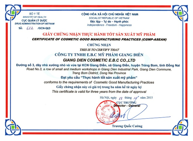 White Doctors duoc cong nhan chat luong san xuat chau A hinh anh 1