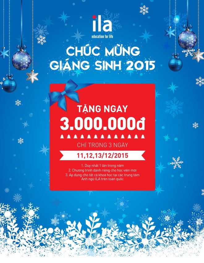 ILA tang hoc vien dang ky moi 3 trieu dong dip Giang sinh hinh anh 1