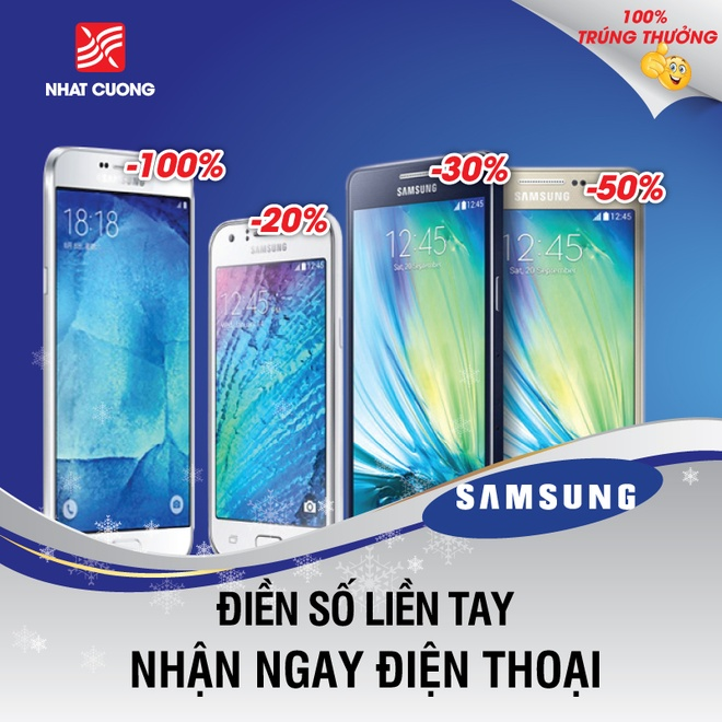 Nhat Cuong Mobile giam gia 30% smartphone Samsung hinh anh 1