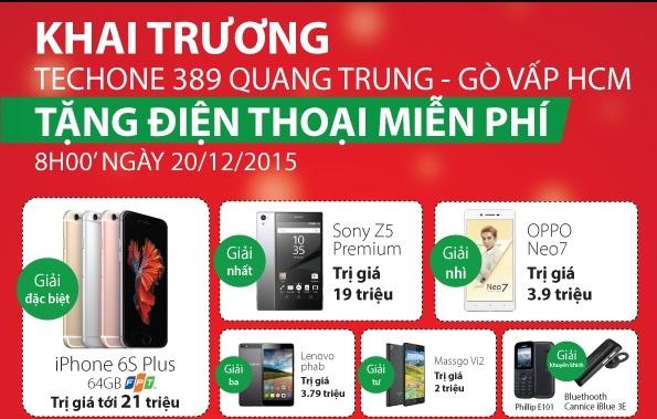 TechOne Quang Trung TP HCM tang smartphone dip khai truong hinh anh 2