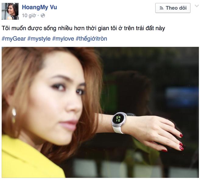 Sao Viet khoe dang voi dong ho thong minh hinh anh 1