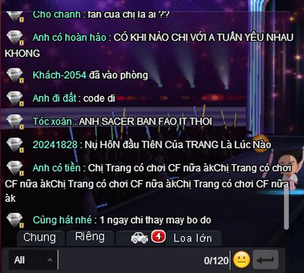 Trang Moon va Tuan Saker an y khi tham du game show hinh anh 2 DJ Trang Moon nhận được hàng nghìn câu hỏi tại khung chat màn hình IdolTV.vn.