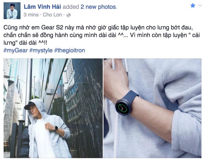 Sao Viet khoe dang voi dong ho thong minh hinh anh 2