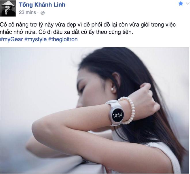 Sao Viet khoe dang voi dong ho thong minh hinh anh 3