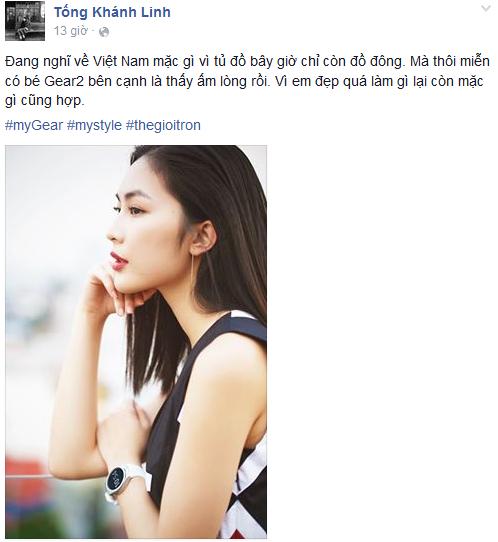 Sao Viet khoe dang voi dong ho thong minh hinh anh 4