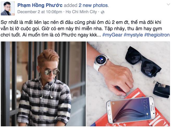 Sao Viet khoe dang voi dong ho thong minh hinh anh 5