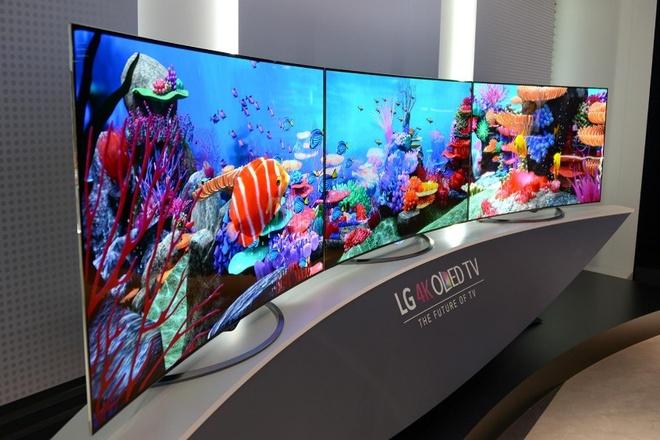 TV OLED va Super UHD 4K cua LG hut nguoi dung hinh anh 1 Một mẫu TV màn hình cong thuộc dòng OLED 4K của LG.