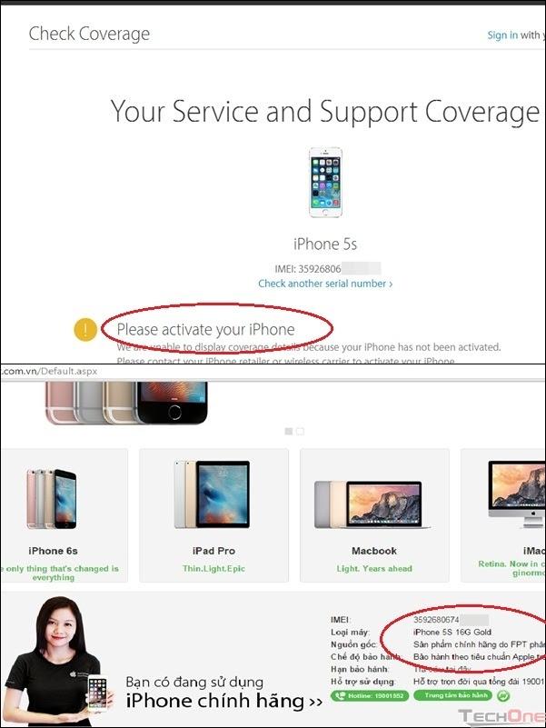 Giai ma con sot iPhone FPT troi bao hanh gia re hinh anh 4 Kiểm tra sản phẩm iPhone FPT trôi bảo hành tại website của APPLE và FPT Trading.