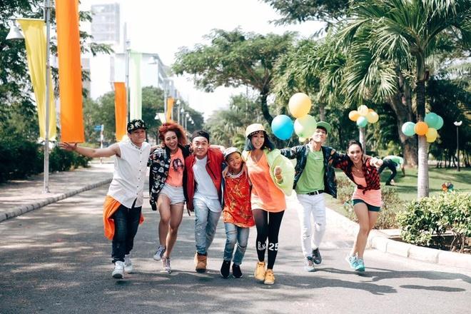 Min bat tay dan vu cong 'Thu thach cung buoc nhay' lam MV hinh anh 2 Phở, Sơn Lâm và Hải Anh góp mặt trong MV của Min.