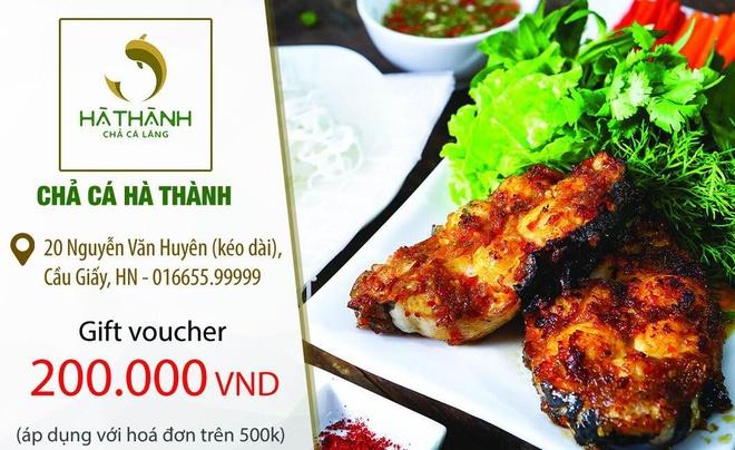 Cha ca Ha Thanh tang voucher 200.000 dong cho thuc khach hinh anh