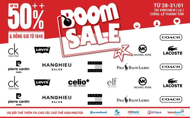 'Boom sale' hang hieu trong 4 ngay tai Vincom B TP HCM hinh anh 1