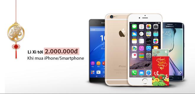 Li xi den 2 trieu dong khi mua iPhone va smartphone dau xuan hinh anh