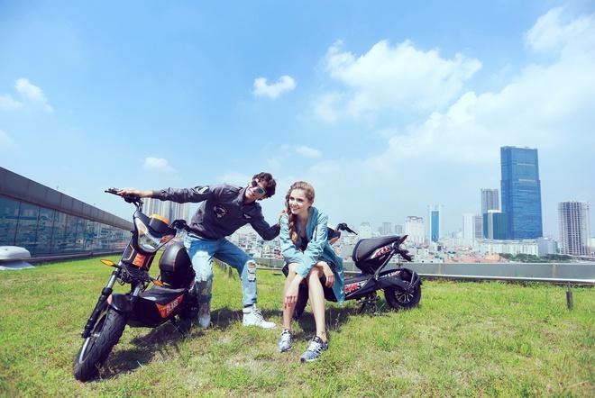 Phong cach an tuong cua xe dien HKbike Top Class hinh anh 2