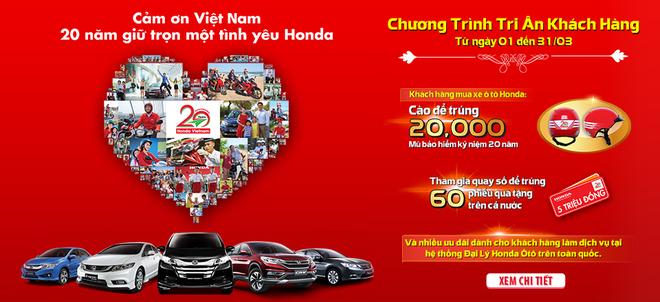 Honda Oto Viet Nam tri an khach hang nhan 20 nam thanh lap hinh anh 1