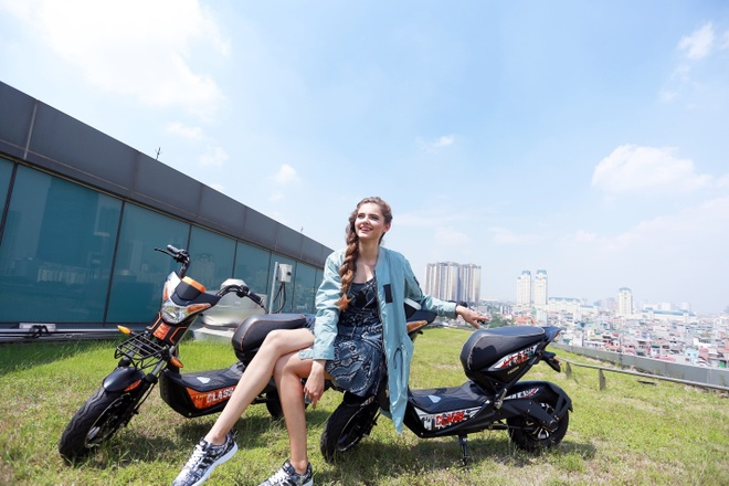 Xe dien HKbike ap dung cong nghe chong nuoc tien tien hinh anh
