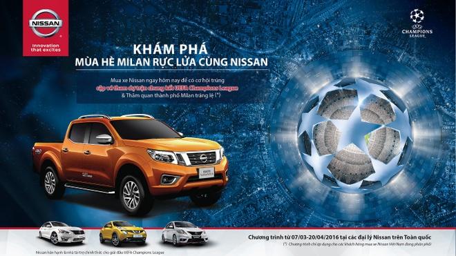 Mua xe Nissan - trung ve xem chung ket UEFA Champions League hinh anh 1