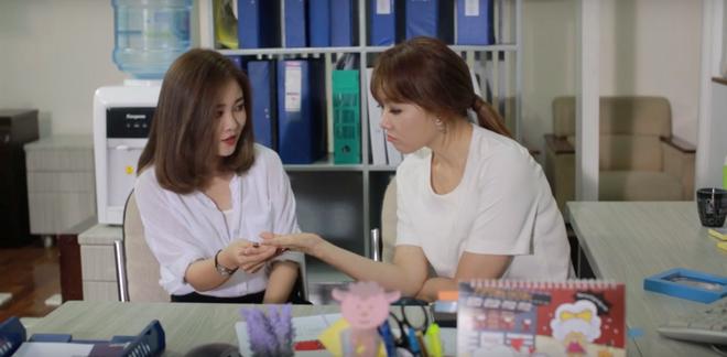 Hari Won tham gia phim ngan ve tinh yeu van phong hinh anh 4