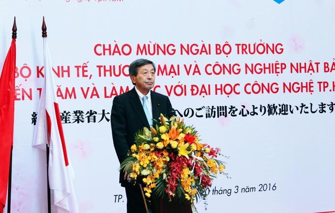 Bo truong Nhat Ban tham va lam viec tai HUTECH hinh anh 4