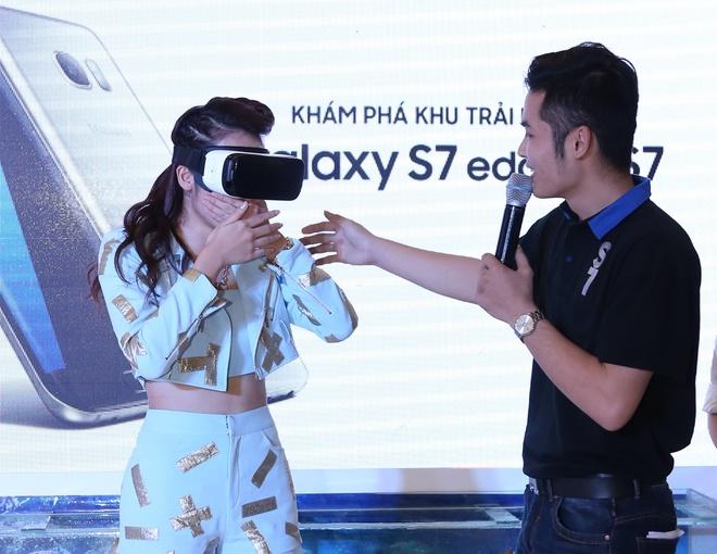 Sao Viet thich thu trai nghiem tinh nang cua Galaxy S7 hinh anh