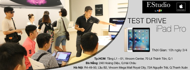 Trai nghiem iPad Pro mien phi tai F.Studio by FPT hinh anh 1