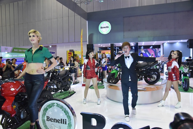 Benelli trung bay xe tai trien lam moto, xe may 2016 hinh anh 6