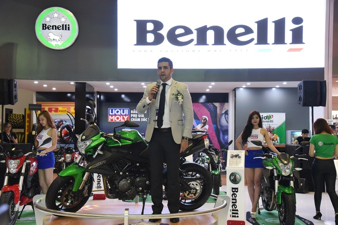 Benelli trung bay xe tai trien lam moto, xe may 2016 hinh anh 8