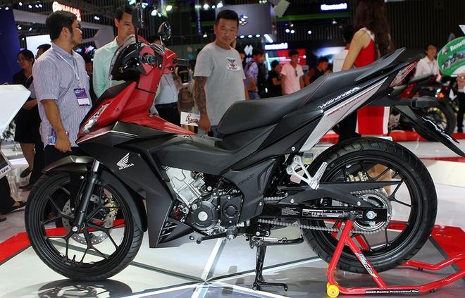 Honda Winner 150 hut khach tai trien lam xe may Viet Nam hinh anh 1