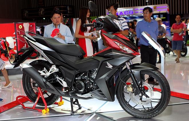 Honda Winner 150 hut khach tai trien lam xe may Viet Nam hinh anh