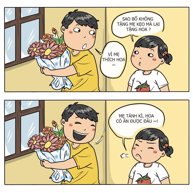 Tranh Vui: Doi Dap Hai Huoc Giua Bo Me Va Con Cai Hinh Anh 5