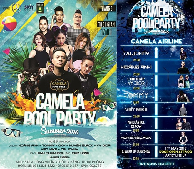 Camela Pool Party 2016: Thien duong bien giua long resort hinh anh 1