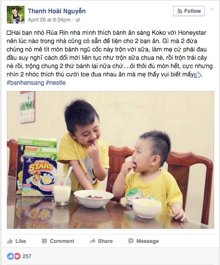 Minh Ha - Ly Hai chia se cach cham soc bua an cho con hinh anh 3
