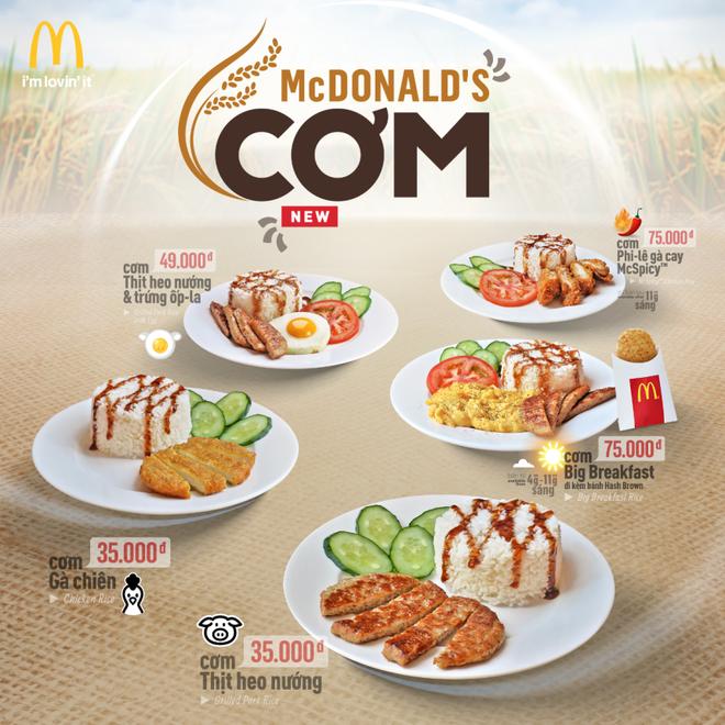 McDonald's Viet Nam lan dau ra mat thuc don com hinh anh 1