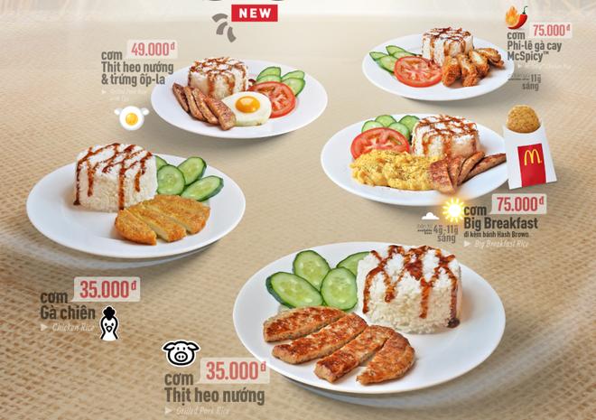 McDonald's Viet Nam lan dau ra mat thuc don com hinh anh