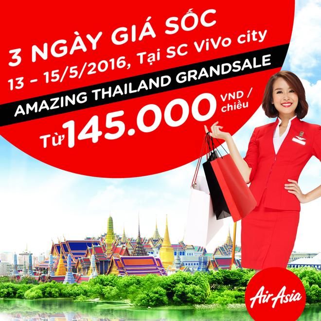 AirAsia tung ve khuyen mai 7 USD tuyen TP HCM - Bangkok hinh anh 1