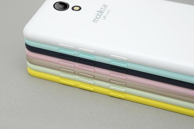 LAI Yuna C: Smartphone 7 mau pastel, man hinh cong 2,5D hinh anh 1