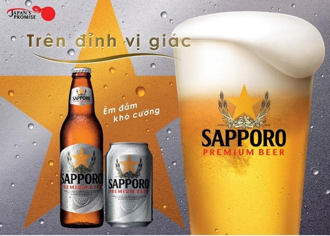 Thuong thuc Sapporo Premium Beer vi em dam dung gu Viet hinh anh 2