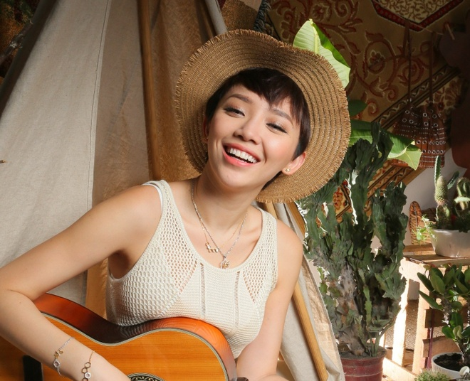 Toc Tien an tuong voi phong cach boho-chic hinh anh