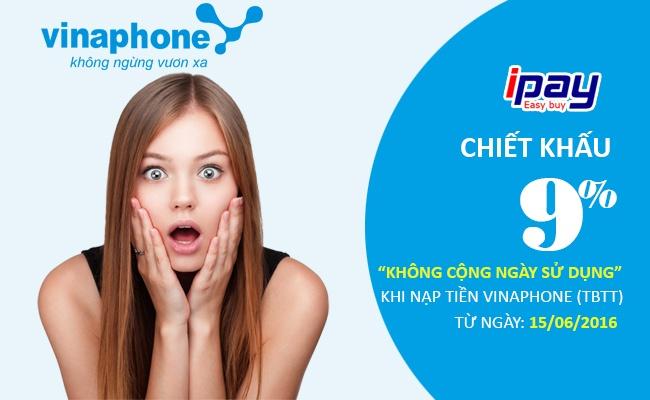 Nhan chiet khau lon tu VinaPhone khi nap tien qua iPay.vn hinh anh 1