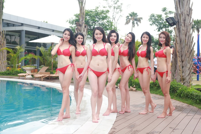 Thi sinh HH Ban sac Viet toan cau trinh dien bikini hinh anh 11